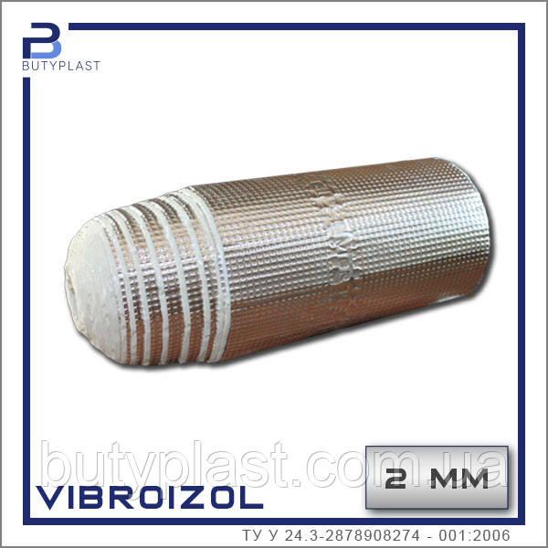 "Виброизоляция ""Виброизол"",  2 мм в рулоне  10м.п. *330мм,  Украина"
