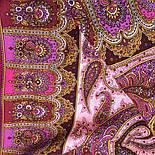 Фаворит 1344-6, павлопосадский платок шерстяной с шелковой бахромой, фото 8