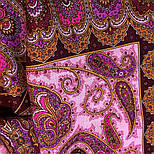 Фаворит 1344-6, павлопосадский платок шерстяной с шелковой бахромой, фото 7