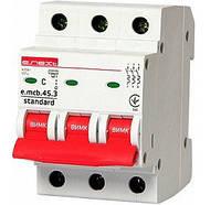 Модульний автоматичний вимикач e.mcb.stand.45.3.C20, 3р, 20А, C, 4.5 кА