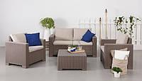 Набор садовой мебели California 2 Seater Set Cappuccino ( капучино ) из искусственного ротанга, фото 1