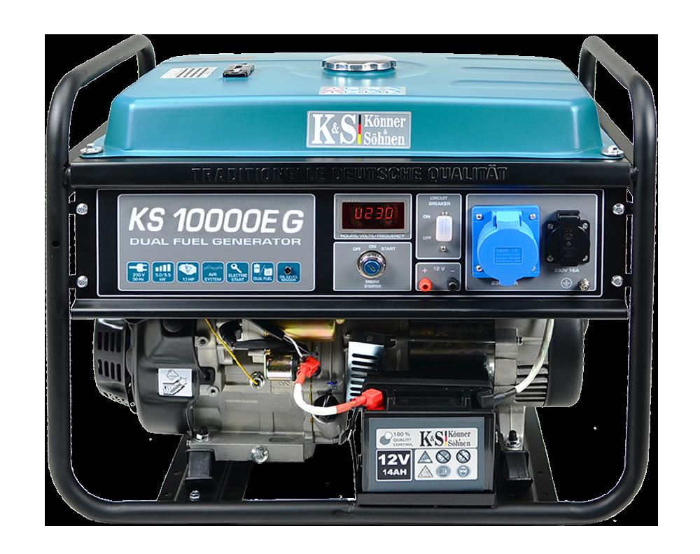 Генератор газобензиновый Konner&Sohnen KS 10000Е G (8 кВт)