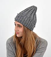 """Молодіжна шапка """"Nord"""" на флісі Джудіт сірий"""