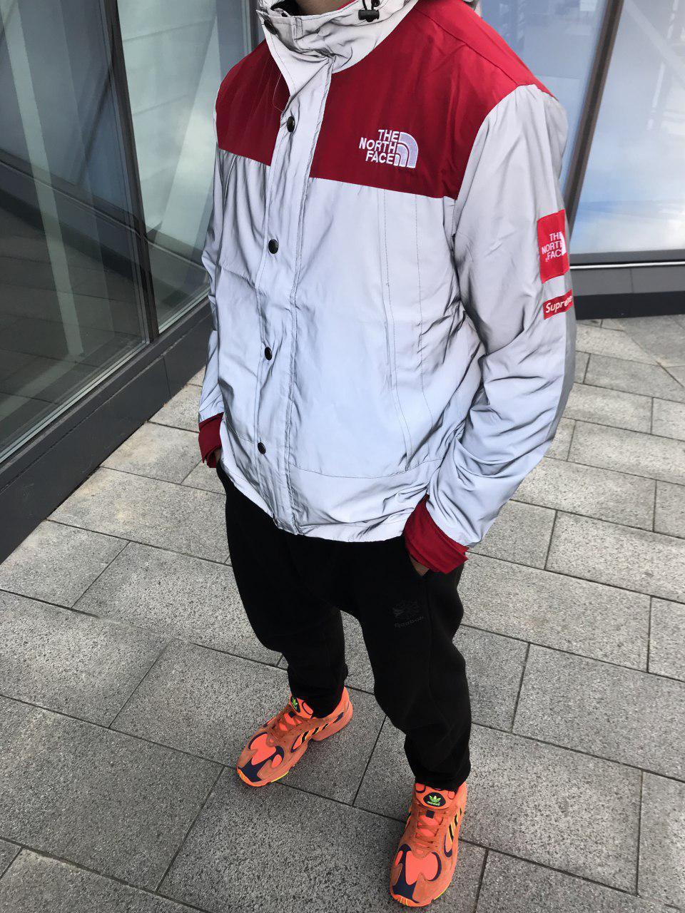 Куртка в стиле Supreme x The north face Red