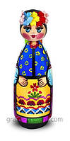 Украинская кукла пирамидка ср. — Казак и Казачка 15см (дерево) 171