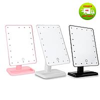 Зеркало для макияжа с LED подсветкой Magic MakeUp Mirror прямоугольное