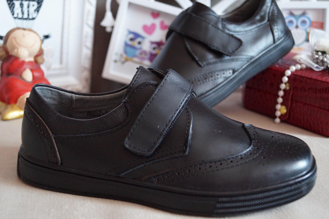Кожаные туфли на мальчика, 34.35.36.37
