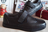 Кожаные туфли на мальчика, 34.35.36.37, фото 1
