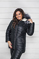 Женский зимний теплый лыжный костюм большого размера синий шоколад мята черный 48-50 52-54 56-58, фото 1