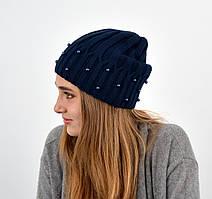"""Молодіжна шапка """"Nord"""" на флісі Джудіт синій"""