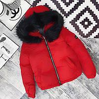 Теплая женская куртка с капюшоном