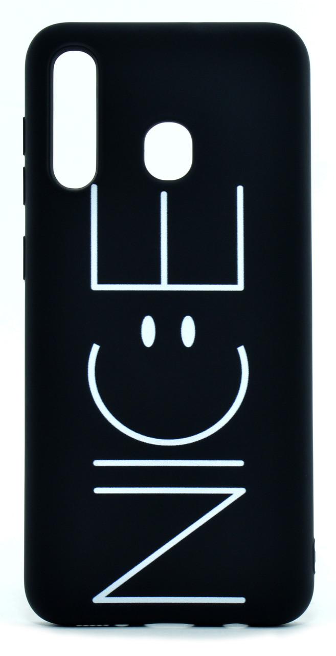Чохол-накладка NZY для Samsung Galaxy A20 (2019) Viva Print TPU NICE Чорний (126014)