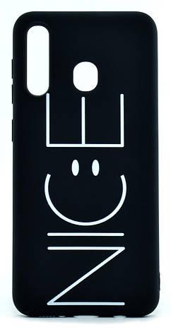 Чохол-накладка NZY для Samsung Galaxy A20 (2019) Viva Print TPU NICE Чорний (126014), фото 2