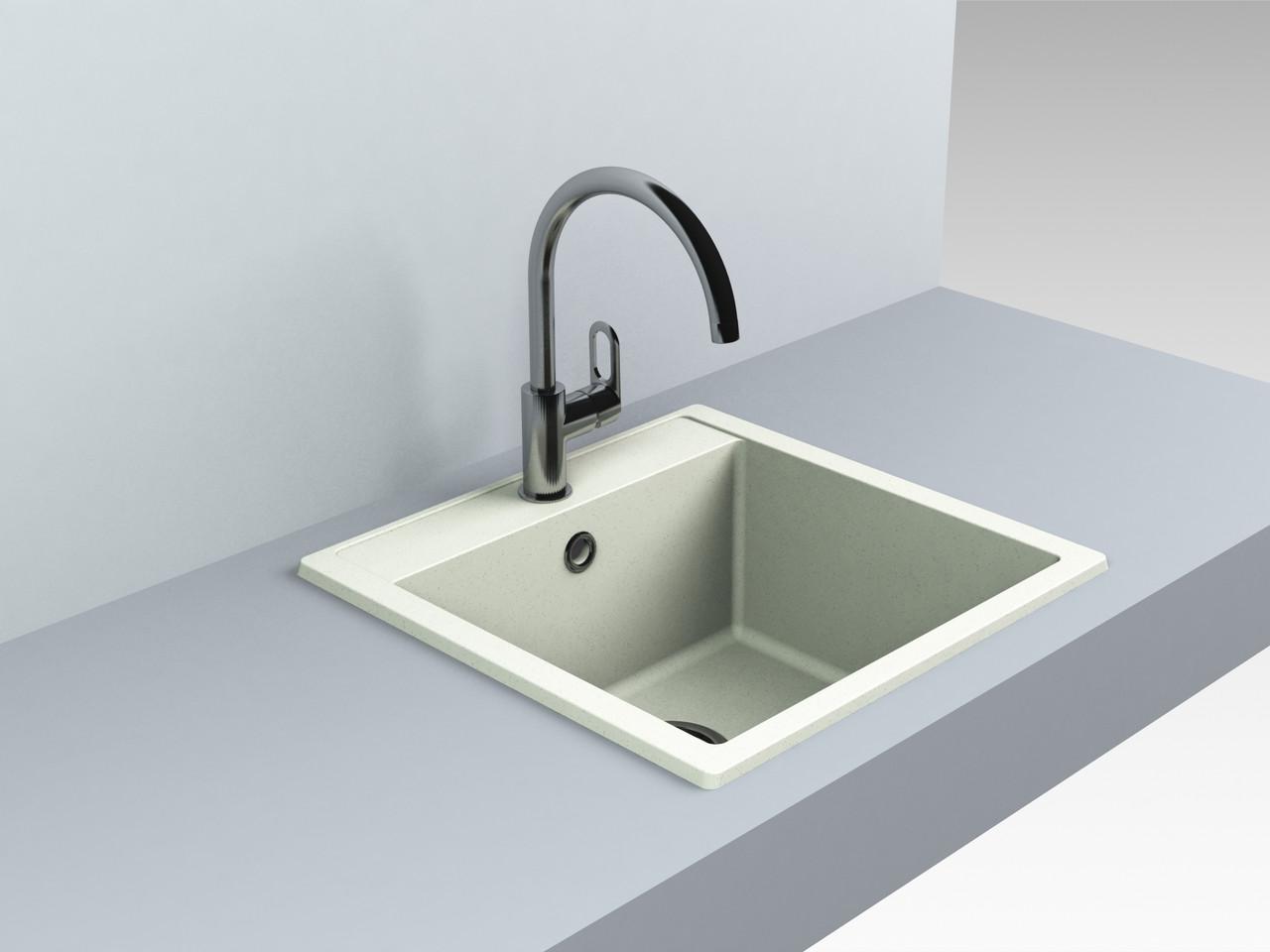 Кварцевая мойка для кухни 509*495*227 мм Miraggio Bodrum 510 жасмин