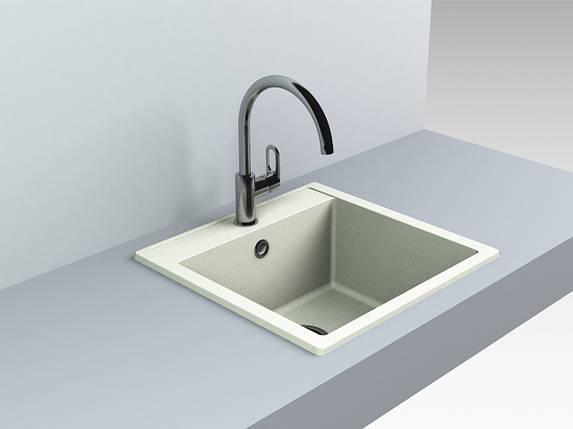 Кварцевая мойка для кухни 509*495*227 мм Miraggio Bodrum 510 жасмин, фото 2
