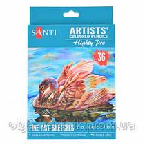 """Набор художественных цветных карандашей """"Santi Highly Pro"""", 36 шт., 742393"""