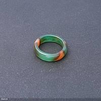 Кольцо из натурального камня Бразильский Агат граненное, высота 6мм, ширина 3мм, диаметр 17-19мм