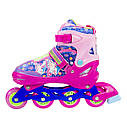 Роликовые коньки Nils Extreme NJ4605A Size 30-33 Pink, фото 8