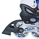 Роликовые коньки Nils Extreme NH618A 2 в 1 Size 30-33 Blue, фото 2