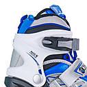Роликовые коньки Nils Extreme NH618A 2 в 1 Size 30-33 Blue, фото 3