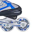 Роликовые коньки Nils Extreme NH618A 2 в 1 Size 30-33 Blue, фото 4