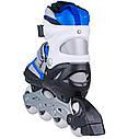 Роликовые коньки Nils Extreme NH618A 2 в 1 Size 30-33 Blue, фото 5