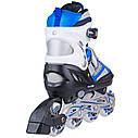 Роликовые коньки Nils Extreme NH618A 2 в 1 Size 30-33 Blue, фото 6