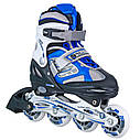 Роликовые коньки Nils Extreme NH618A 2 в 1 Size 30-33 Blue, фото 7