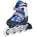 Роликовые коньки Nils Extreme NH618A 2 в 1 Size 30-33 Blue, фото 8
