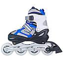 Роликовые коньки Nils Extreme NH618A 2 в 1 Size 30-33 Blue, фото 9