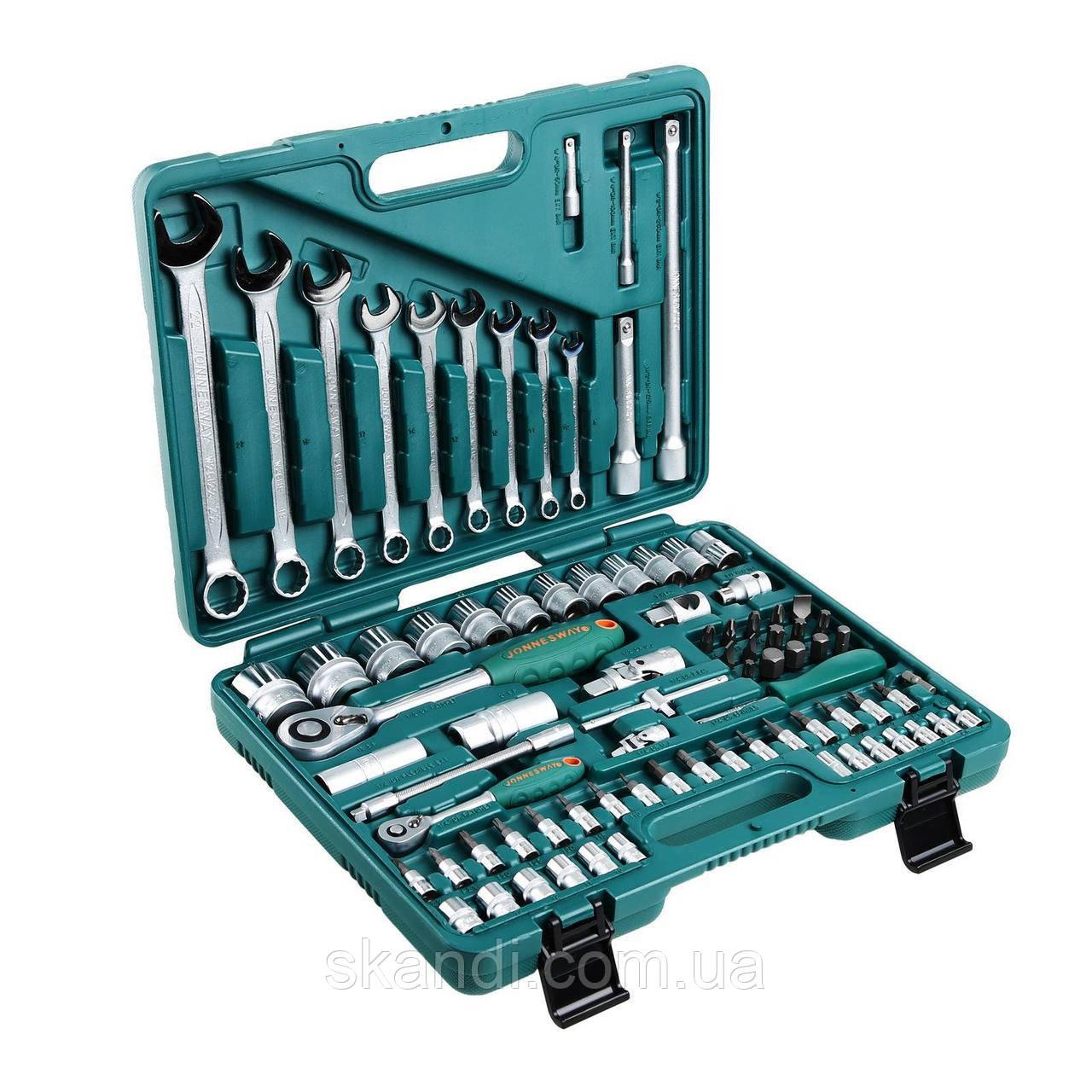 Набор инструментов Jonnesway 82 элем. 1/4-1/2 s04h52482s