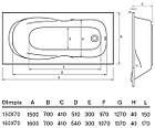 Прямоугольная ванна KOLLER POOL OLIMPIA OLIMPIA160X70, фото 2