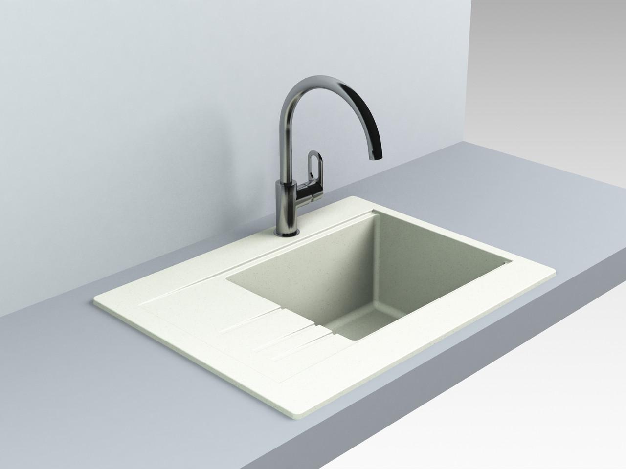 Гранитная мойка для кухни 649*500* 200 мм Miraggio Bodrum 650 жасмин