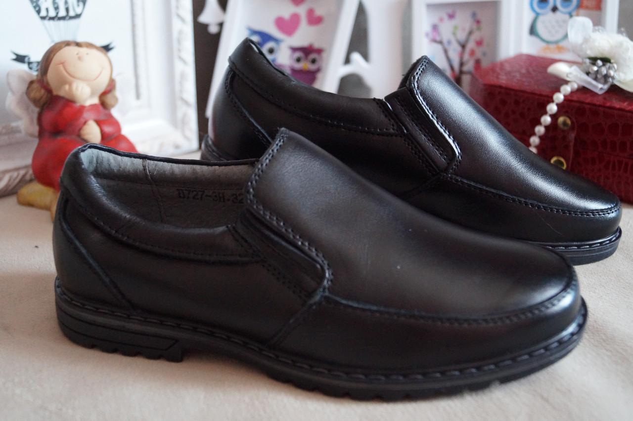 Кожаные туфли на мальчика в школу, 32.33.35.36.37