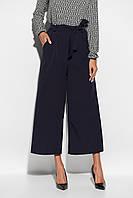 Женские темно-синие брюки-кюлоты, фото 1