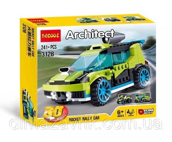 """Конструктор Decool 3128 (Аналог LEGO Creator 31074) 30в1 """"Супер скоростной раллийный автомобиль"""" 241 деталь"""