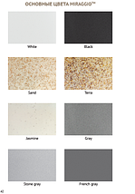 Гранитная мойка для кухни 649*500* 200 мм Miraggio Bodrum 650 серый, фото 2
