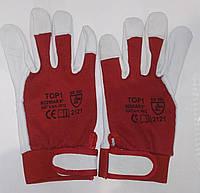 Перчатки рабочие кожаные с липучкой Top1
