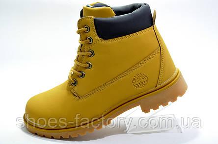 Ботинки унисекс в стиле Timberland, зимние на меху, фото 2