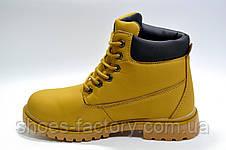 Ботинки унисекс в стиле Timberland, зимние на меху, фото 3