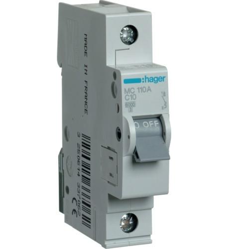 Автоматичний вимикач 10А З MC110A Hager