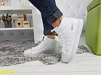 Кроссовки белые суперстар с брендовыми значками, фото 1
