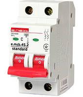 Модульний автоматичний вимикач e.mcb.stand.45.2.C6, 2р, 6А, C, 4.5 кА