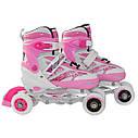 Роликовые коньки SportVida 4 в 1 SV-LG0016 Size 31-34 Pink, фото 6