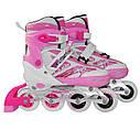 Роликовые коньки SportVida 4 в 1 SV-LG0017 Size 35-38 Pink, фото 2