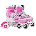 Роликовые коньки SportVida 4 в 1 SV-LG0017 Size 35-38 Pink, фото 5