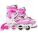 Роликовые коньки SportVida 4 в 1 SV-LG0017 Size 35-38 Pink, фото 6