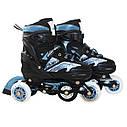 Роликовые коньки SportVida 4 в 1 SV-LG0019 Size 31-34 Black/Blue, фото 2