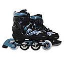 Роликовые коньки SportVida 4 в 1 SV-LG0019 Size 31-34 Black/Blue, фото 4