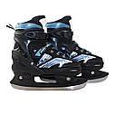 Роликовые коньки SportVida 4 в 1 SV-LG0019 Size 31-34 Black/Blue, фото 6